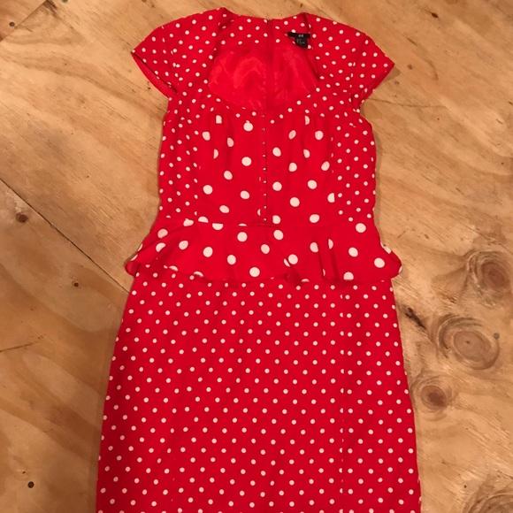 ffe908cee21d0 H&M Dresses   Sale Hm Polka Dot Vintage Style Dress   Poshmark
